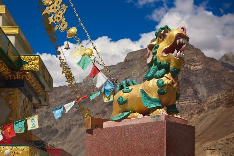 Lion of Buddha royalty free stock photo