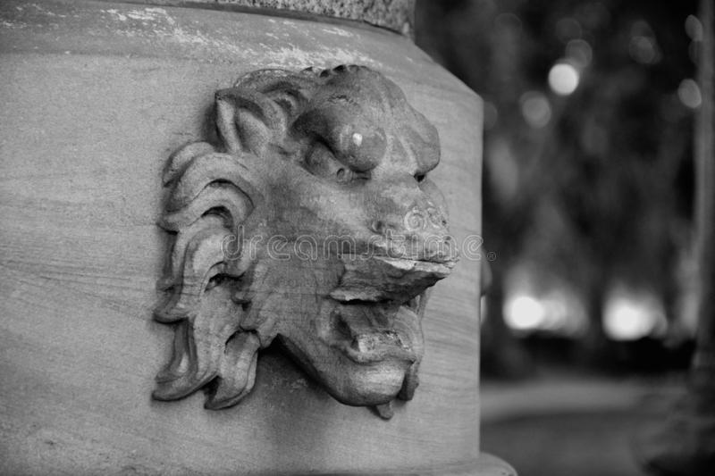 Lion of Buxton Memorial Fountain in London stock image