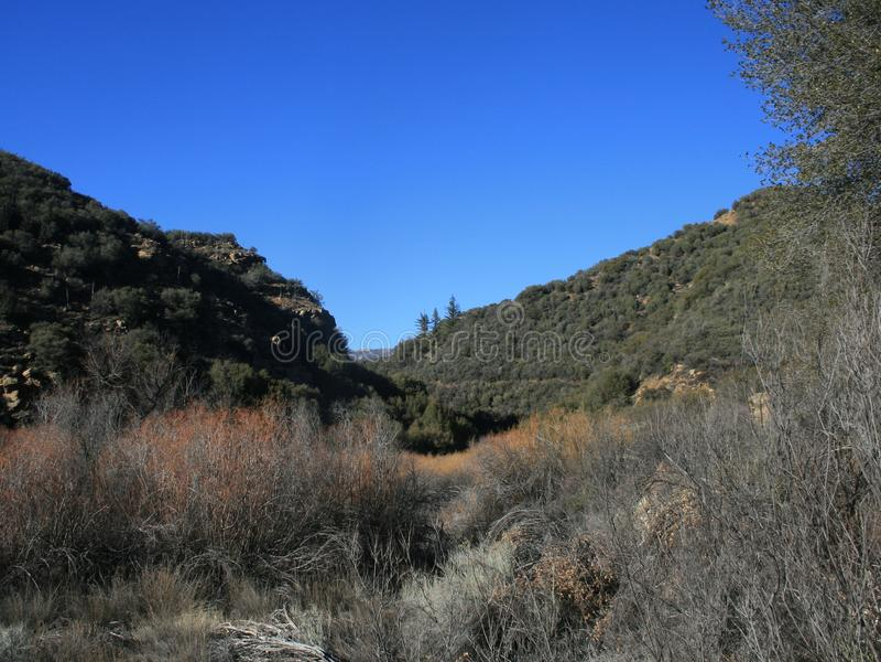 Lion Canyon Panorama 2 immagine stock