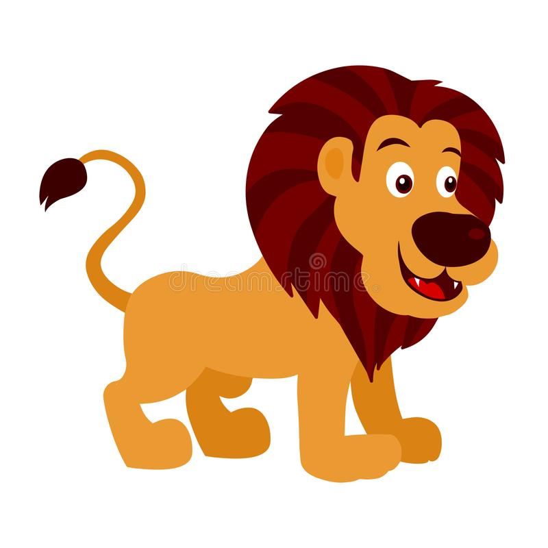 Lion Cartoon royalty free illustration