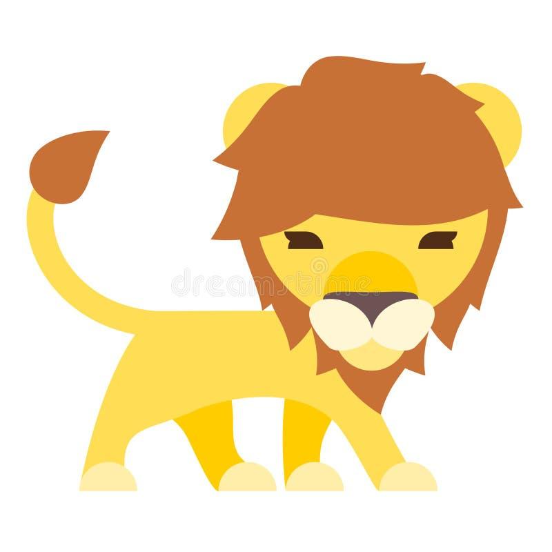 lion cartoon flat style royalty free stock photos