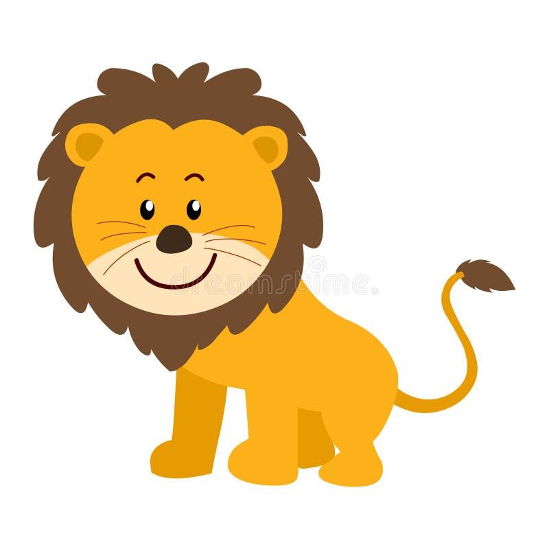 Lion. Cartoon lion isolated on white background/animal cartoon stock illustration