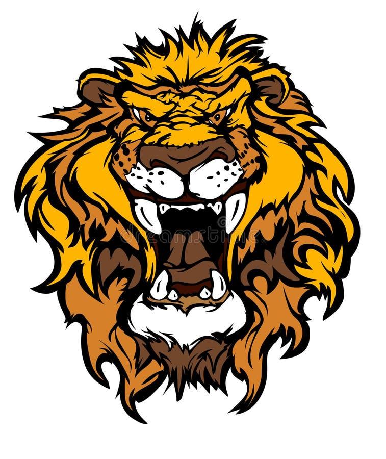 Lion cartoon Mascot Illustration. Cartoon Vector Images of Lion Mascot stock illustration