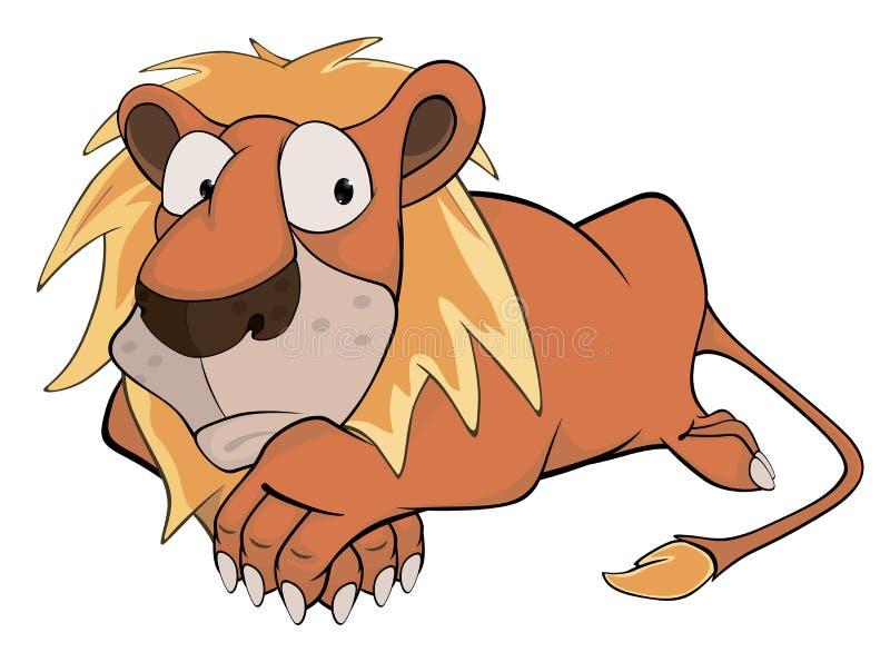 Lion. Cartoon vector illustration