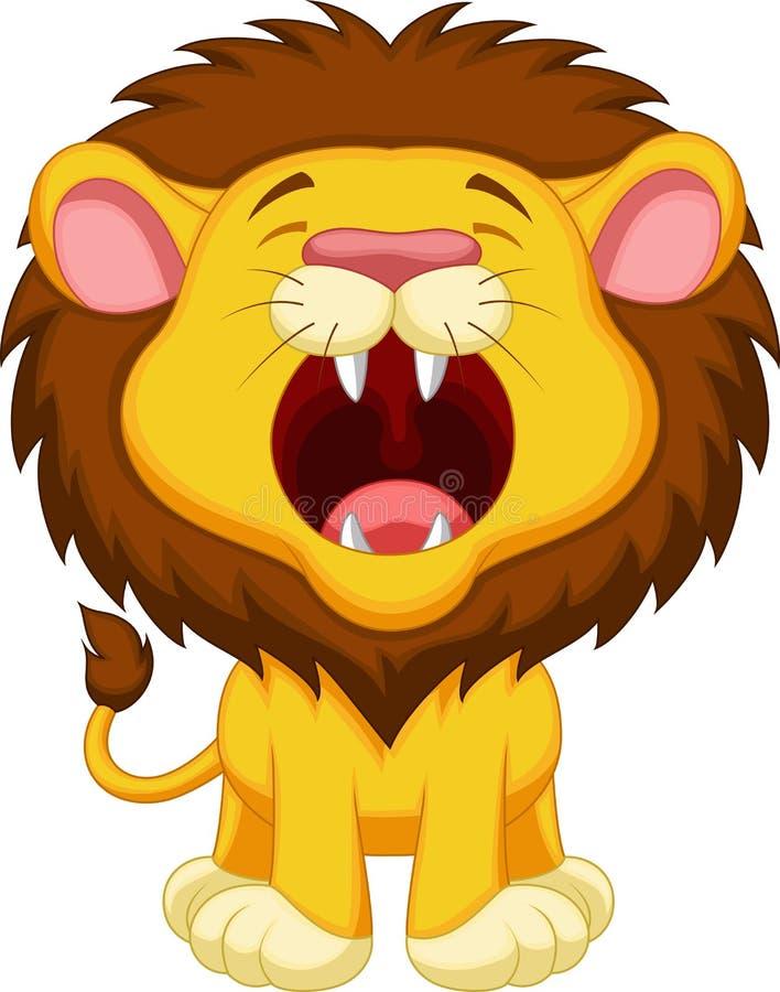 Lion cartoon roaring stock illustration