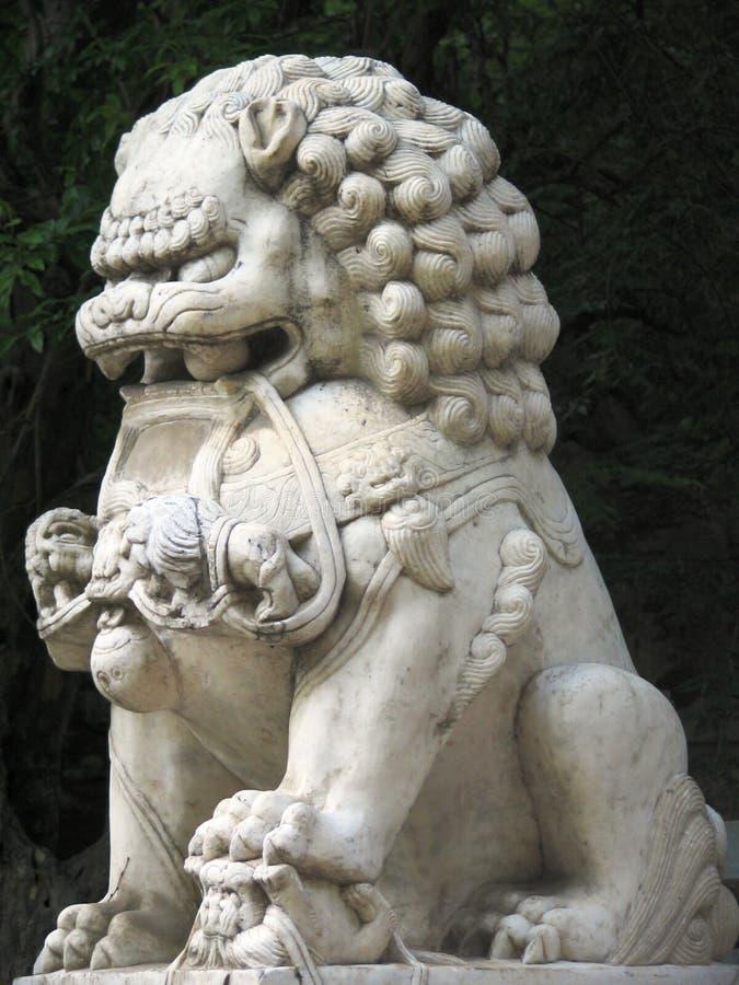 Lion chinois image libre de droits