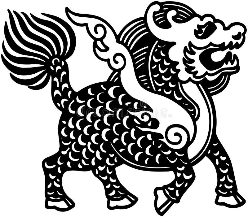 Lion chinois illustration libre de droits