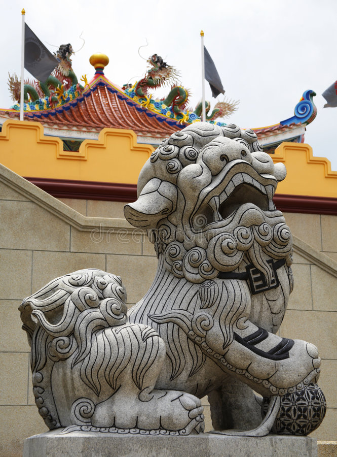lion chinois photo libre de droits