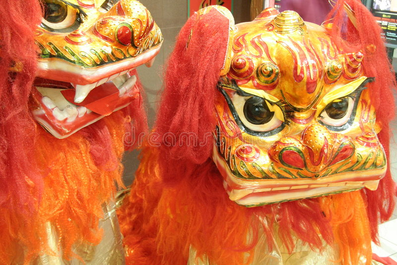 Lion chinois de célébration photographie stock