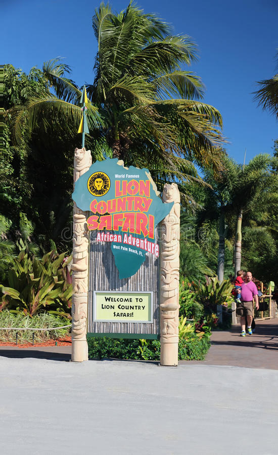Download Lion Country Safari Sign editorial stock image. Image of beach - 37243479