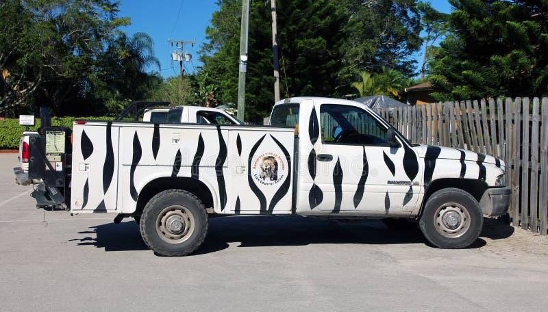 Lion Country Safari Vehicle royalty-vrije stock foto