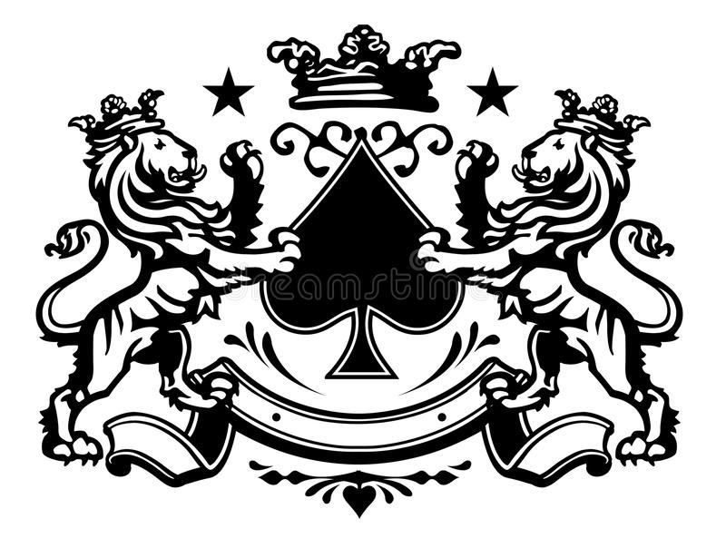 Lion Crest 2 stock vector. Image of element, medieval ...
