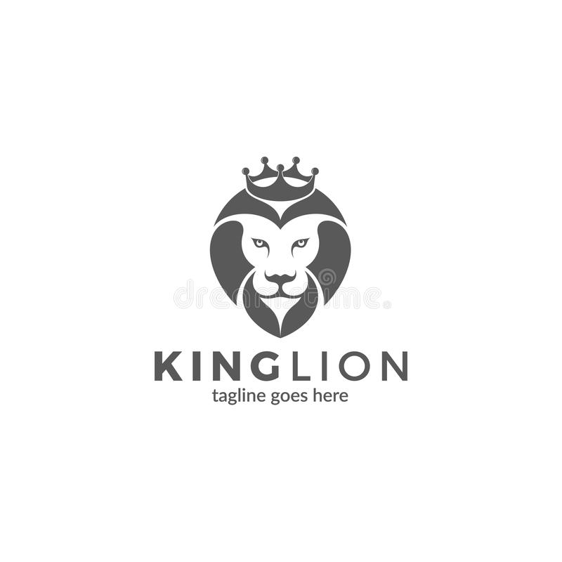 Download Lion With Crown Logo Stock Vector Illustration Of