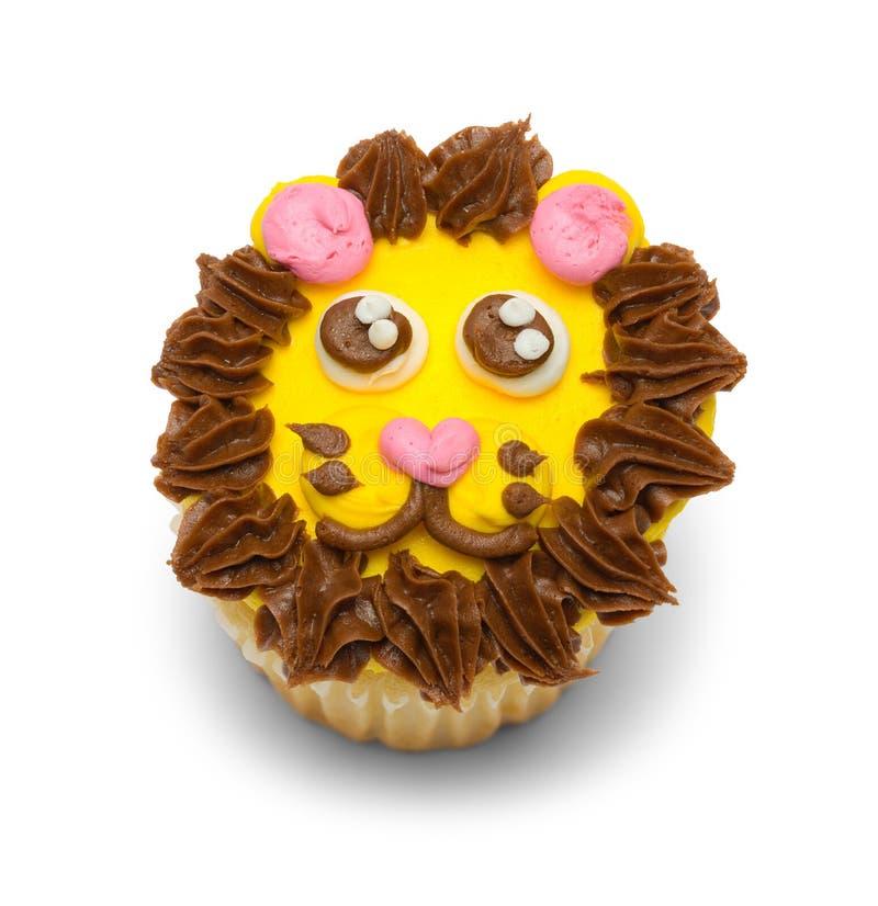 Lion Cupcake Top View image libre de droits