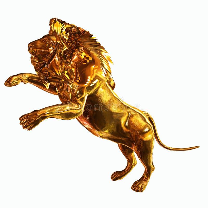 lion d'or illustration libre de droits