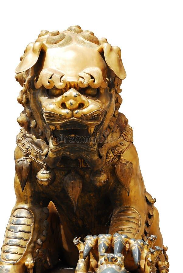 lion d'isolement d'or photos stock
