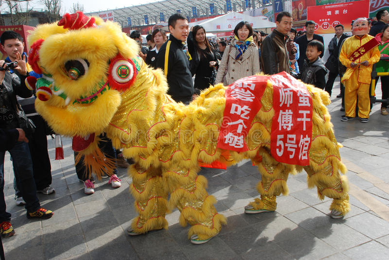 Download Lion dance editorial stock image. Image of dancing, color - 24148909
