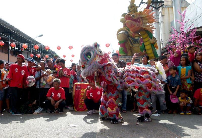 Lion Dance stock fotografie