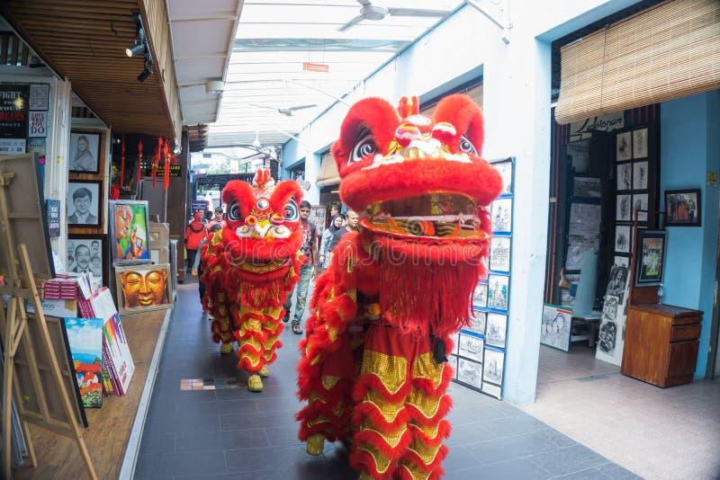Lion Dance lizenzfreie stockfotos