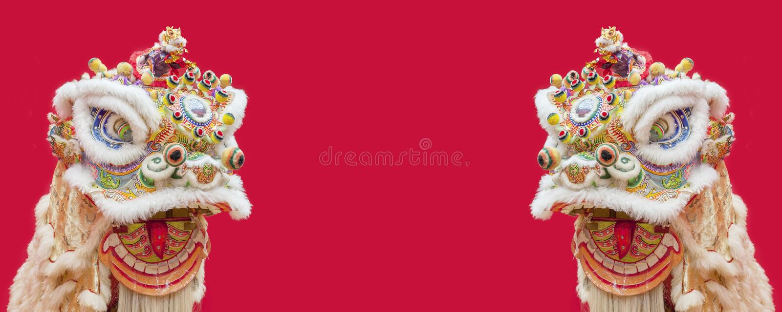 Lion Dance Costume royalty free stock images