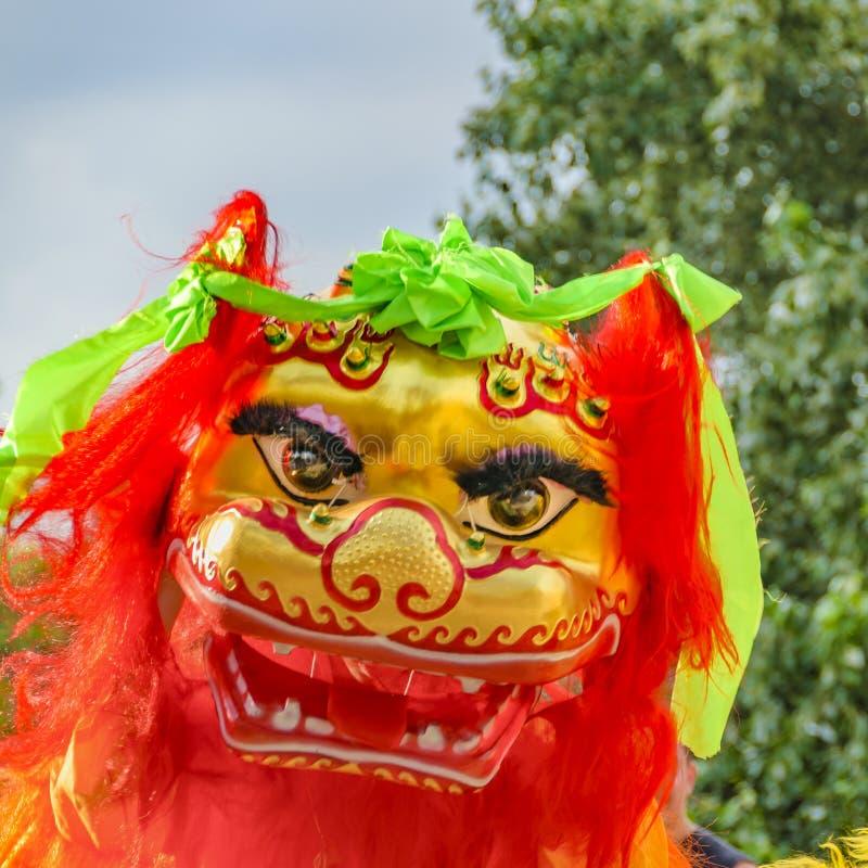 Lion Dance, nouvelle année chinoise, Montevideo, Uruguay images libres de droits