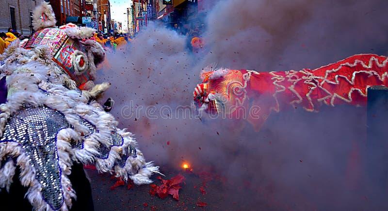 Lion Dance - Philadelphia stock foto