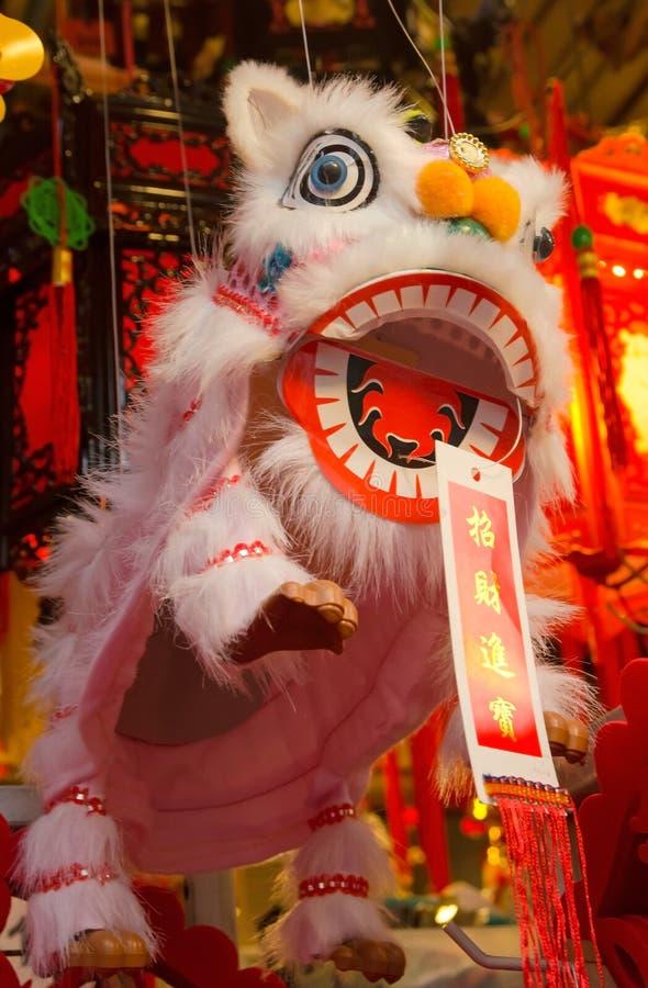 Lion Dance-Puppe des Chinesischen Neujahrsfests stockfotos