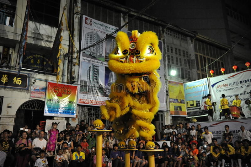 Download Lion Dance editorial stock image. Image of competition - 30718349