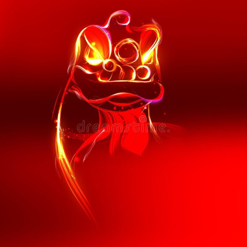 Lion Dance-vorm door Snelheidslijn stock illustratie
