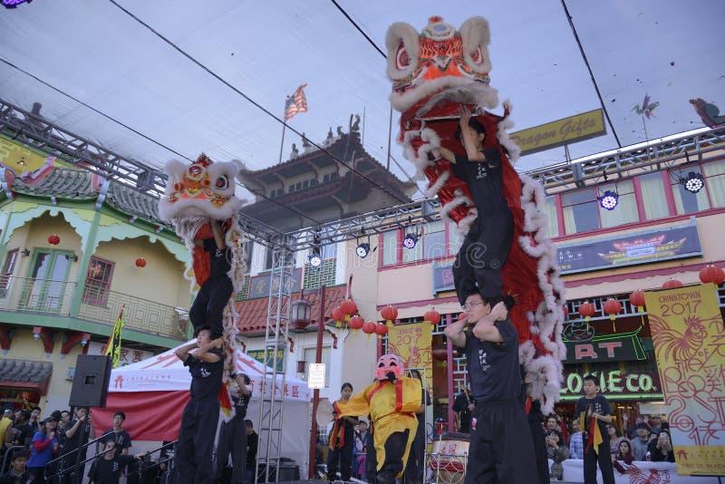 Lion Dancers stock fotografie