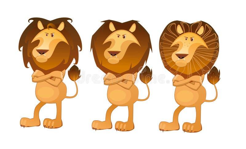 Lion dans le style africain image libre de droits