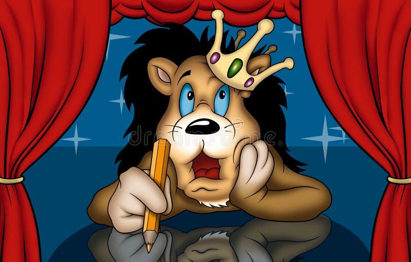 Lion dans le théâtre illustration libre de droits