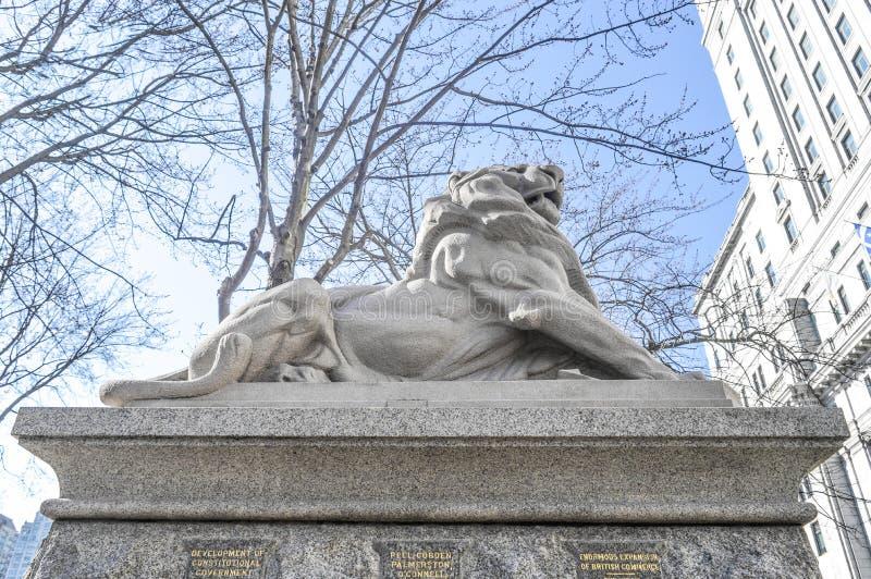Lion de Belfort, un attribut à la Reine Victoria images libres de droits
