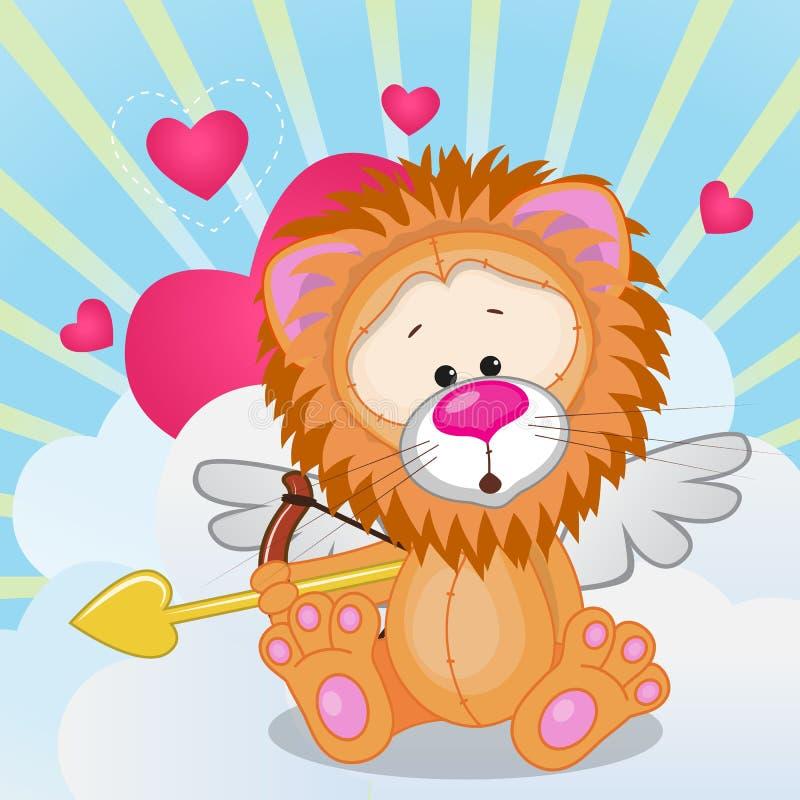 Lion de cupidon illustration stock