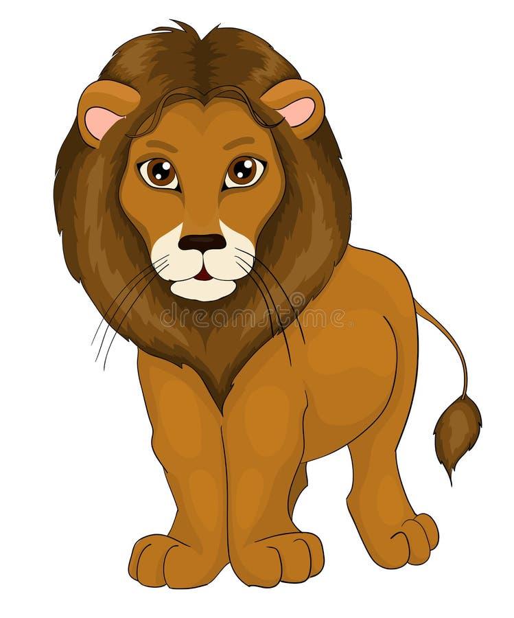 Lion de dessin animé illustration libre de droits