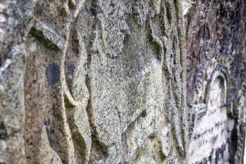 Lion de Judah sur la vieille pierre tombale photos libres de droits