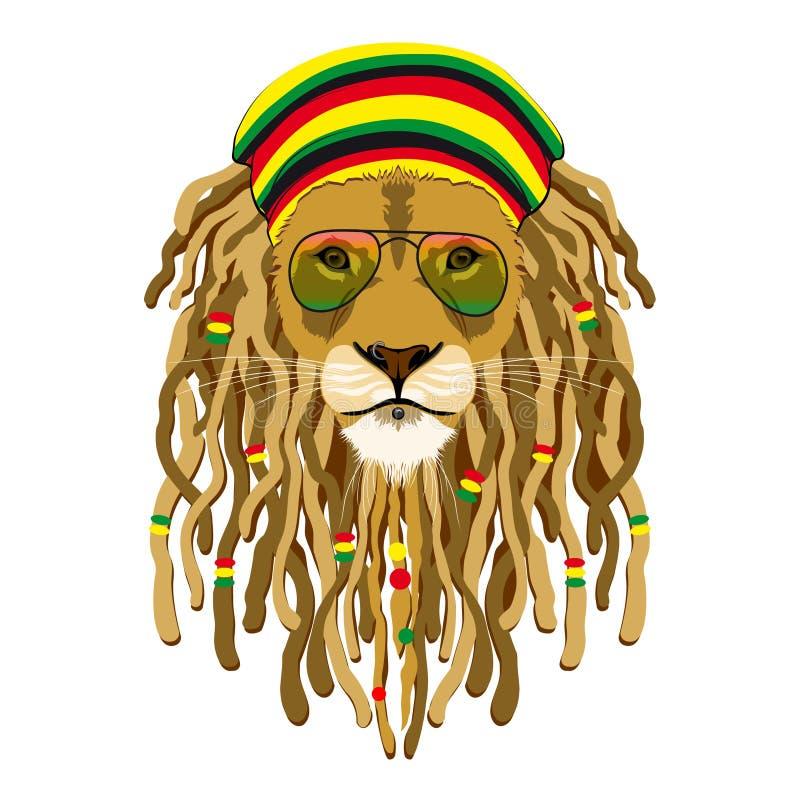 Lion de Rasta illustration de vecteur