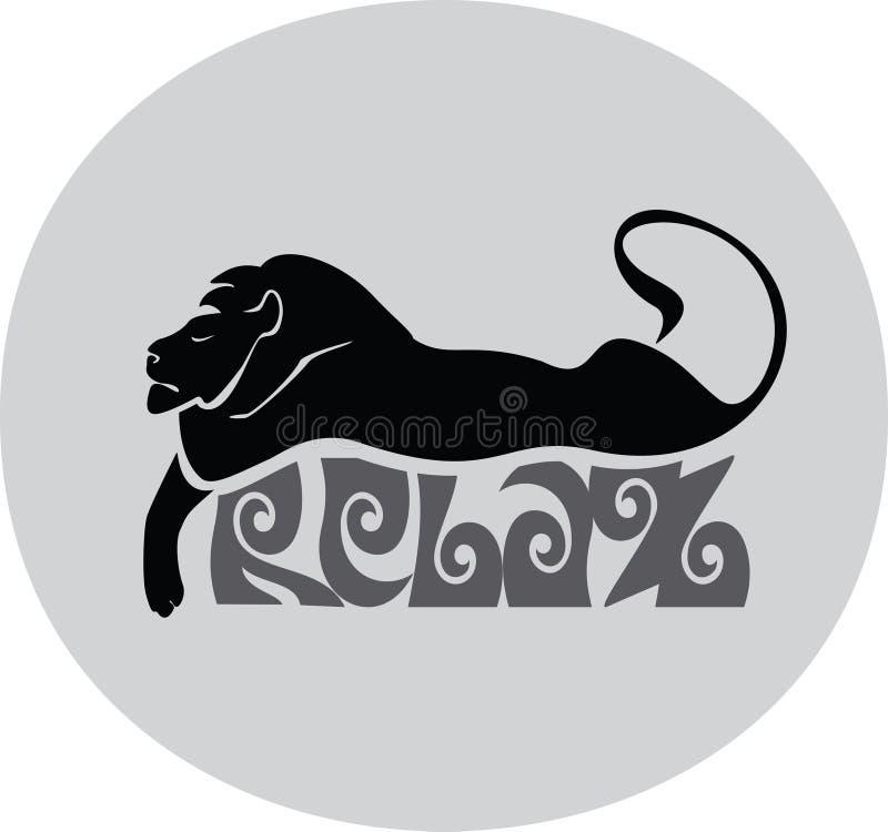 Lion de sommeil illustration stock