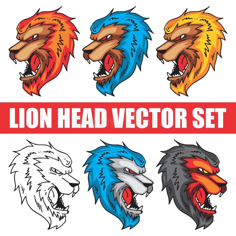 LION DISPONIBLE DE STYLE DE DESSIN DE MASCOTTE illustration de vecteur