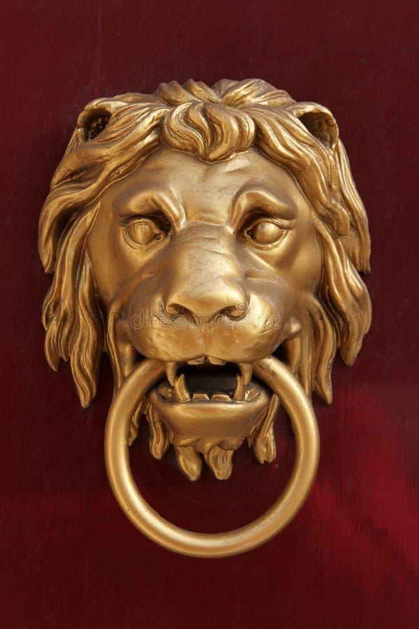 Lion door knob stock photo. Image of door, lion, golden - 24657434