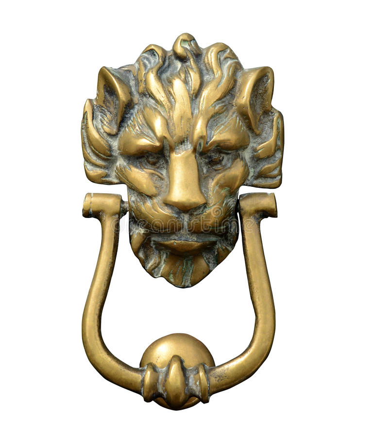 Lion Door Knocker ornamentado imagem de stock royalty free