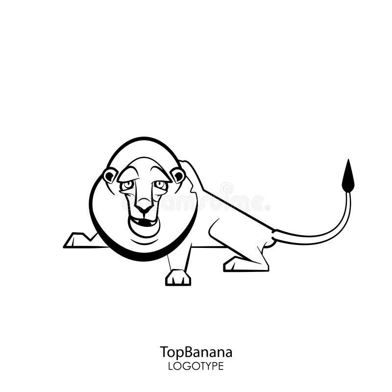 Lion dr?le illustration stock