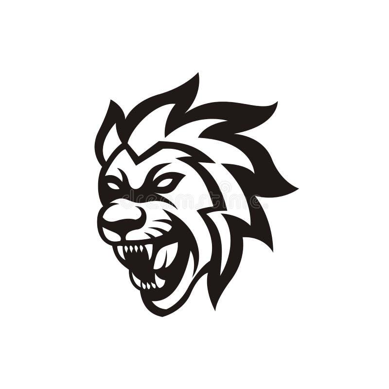 Lion Esport Mascot Logo Template vector illustration