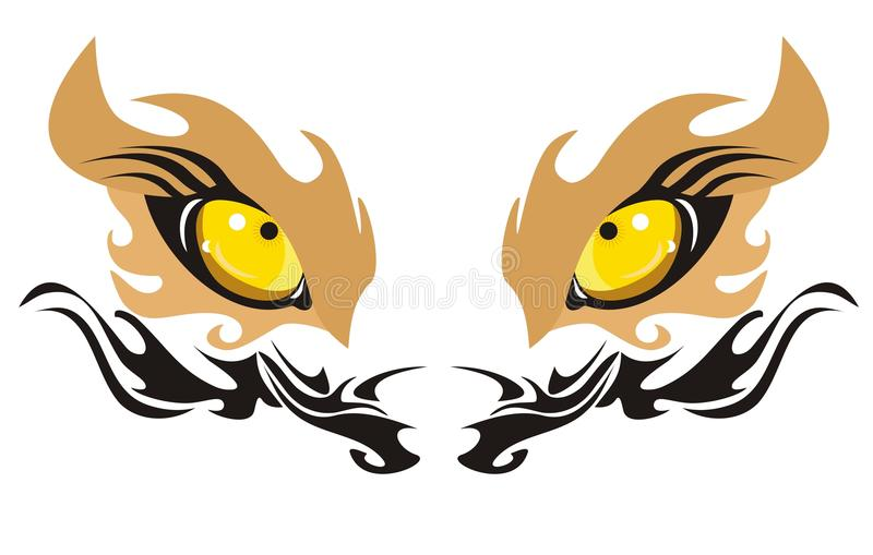 Download Lion eyes stock vector. Illustration of isolated, hunting - 22670775
