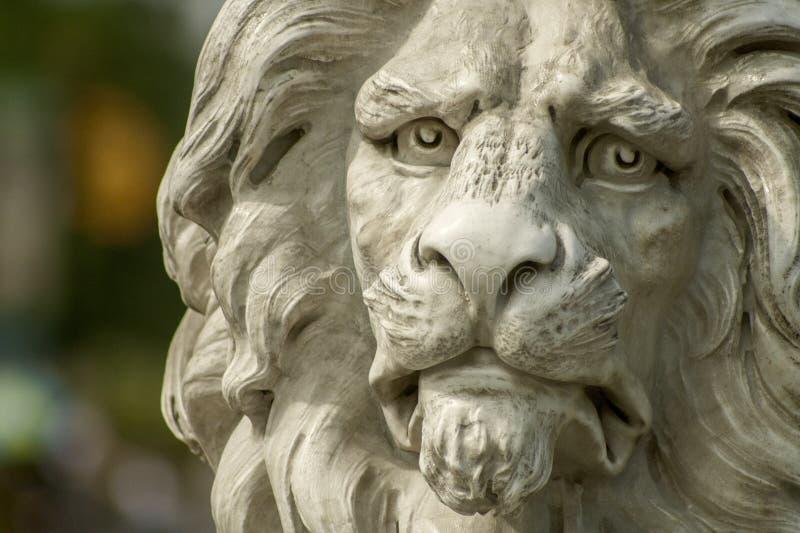 Lion face statue stock photo
