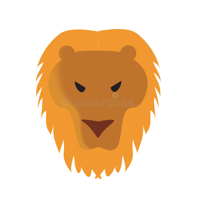 Download Lion Face Vector Illustration Stock Vector - Image: 9650754