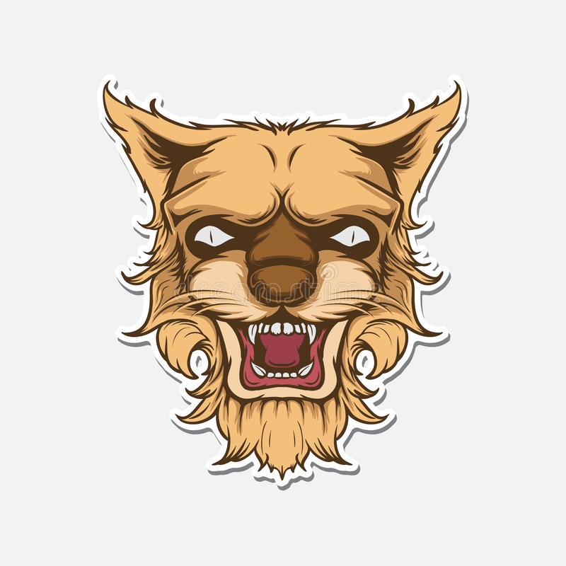 Lion Face Vector Illustration stock image
