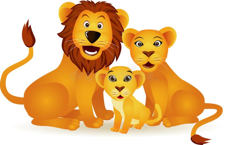 Download Lion family stock vector. Image of love, power, predator - 15440524