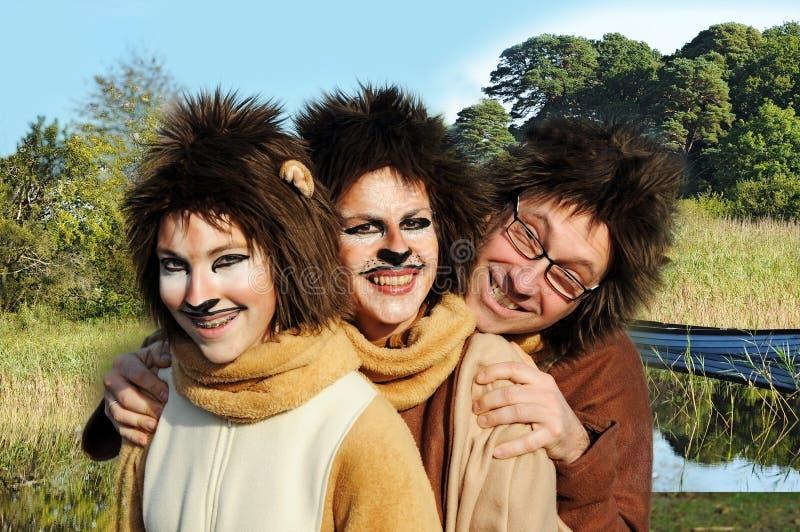 Lion family stock image