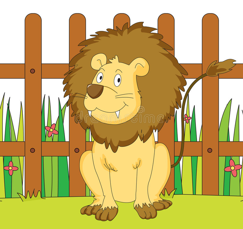 Download Lion And Fence Royalty Free Stock Photo - Image: 7314585